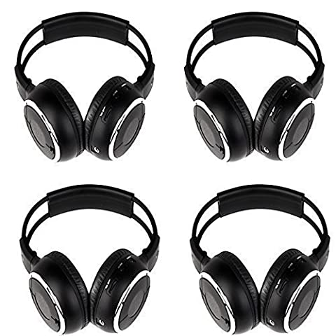 Lightinthebox®2Pair 4Pack Folding Universal Rear Entertainment System Infrared Headphones Wireless