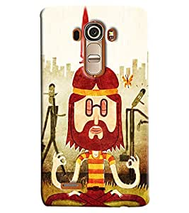 Blue Throat Cartoon Doing Yoga Printed Designer Back Cover For LG G4