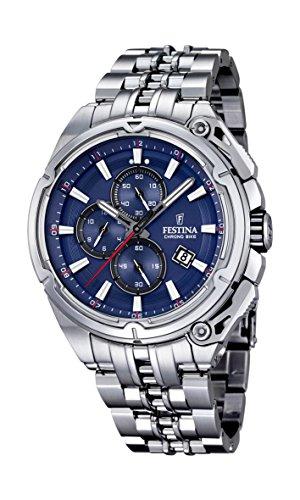 Festina - F16881-2 - Montre Homme - Quartz Chronographe - Cadran Bleu - Bracelet Acier Argent