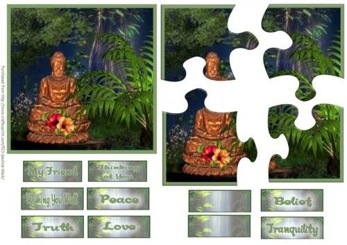 Credenza Budhha puzzle Stacker by Pauline