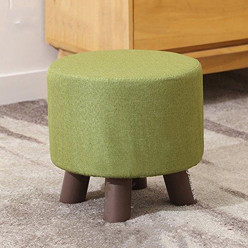 ZXQZ Tabouret créatif en bois massif / porte changeant ses chaussures tabouret / tissu canapé tabouret / banc (4 couleurs disponibles) repose-pieds de stockage ( Couleur : D , taille : 30*28cm )