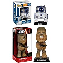 Funko POP! Star Wars: R2-D2 + Wacky Wobbler Chewbacca – Stylized Vinyl Bobble-Head Figure Set NEW
