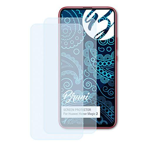 Bruni Schutzfolie kompatibel mit Huawei Honor Magic 2 Folie, glasklare Bildschirmschutzfolie (2X)