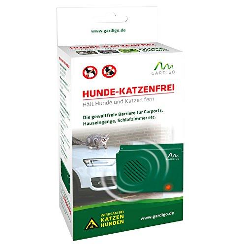 Gardigo Hunde-Katzenfrei mobil | Ultraschall Tierabwehr | Hundeschreck, Katzenschreck, Hundevertreiber, Katzenvertreiber | Gegen Hunde und gegen Katzen | Deutscher Hersteller