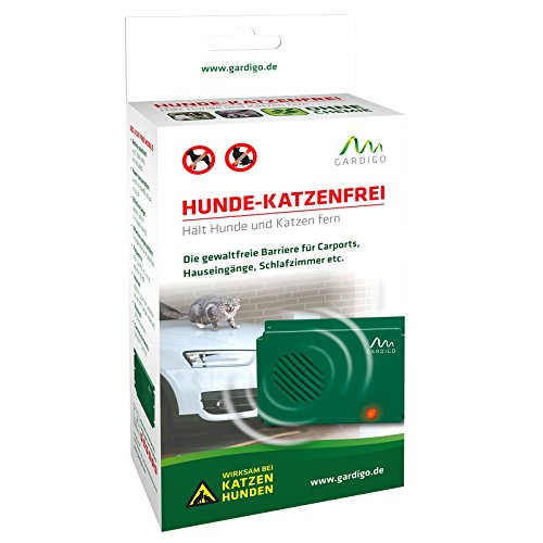 Gardigo 60047 - Repelente Ultrasónico Móvil contra roedores | Ahuyentador por ultrasonidos de perros, gatos, aves, zorros, martes y mapaches | Alimentado por batería