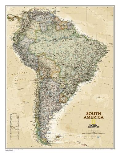 South America Executive, Laminated: Wall Maps Continents (National Geographic Reference Map) por National Geographic Maps