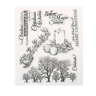 Amazingdeal365 Mit Vielfalt-teilig ! Silikonstempel Set - Blumen Kunst- Clear Stamps - Stempel transparent (3)