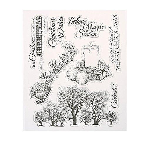 Junerain transparente freie Stempel DIY Silikon-Dichtungen Scrapbooking-Karte 22