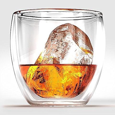 Ashcroft Elegance vasos de whisky o de los vidrios pasados de moda - Conjunto de 2.