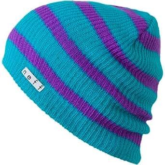 Neff Men's Daily Stripe Beanie, Men's, Aqua/Purple, -
