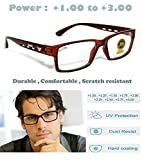 Sun City Spectacle Frame Reading Glasses Power for Men and Women (+1.00 +1.25 +1.50 +1.75 +2.00 +2.25 +2.50 +2.75 +3.00) (+2.00, Brown)