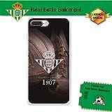 Funda Gel Flexible Betis para iPhone 7 Plus, Carcasa TPU, protege y se adapta a la perfección a tu Smartphone. Licencia oficial Betis-Escudo1