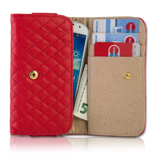 Handy Tasche Fliptasche Flip Book Etui Hülle Case Kunstleder rot book9 für Motorola RAZR Maxx / ZTE Tania / Mobistel Cynus T1 / LG Optimus L9 P760 / LG Optimus G E973 / Samsung Ativ S / HTC One S / Asus Pad Phone / Nokia Lumia 920 / HTC One X Plus / HTC One X + / HTC One