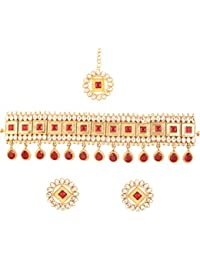 Touchstone Indian Bollywood Desire Classic And Traditional Kundan Polki Look Faux Ruby Designer Jewelry Choker...