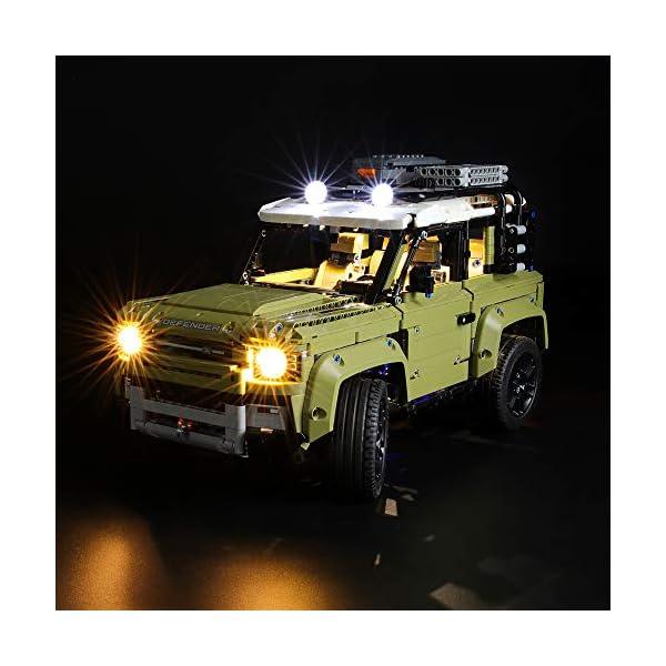 BRIKSMAX Kit di Illuminazione a LED per Lego Technic Land Rover Defender,Compatibile con Il Modello Lego 42110… 2 spesavip