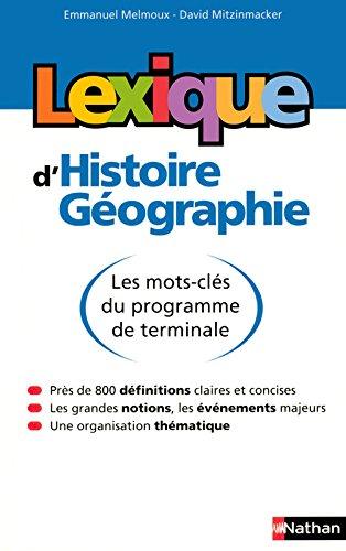 Lexique d'histoire-gographie