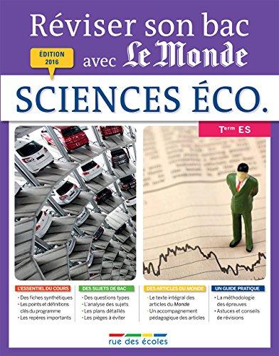 Sciences économiques et sociales Tle ES par From Rue des Ecoles