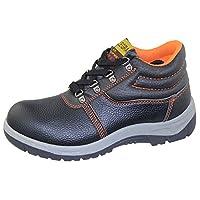 KOLLACHE Mens Boot Color Black/Orange Stitch Size UK 6 EU 40 US 7