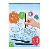 TAIPPAN juego de juguetes de dibujo con pinchos, diseño de espiral, engranajes entrelazados, ruedas, juguetes educativos para niños