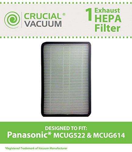 Panasonic Upright Staubsauger Hepa Filter passend für Panasonic MCUG522 &MCUG614 saugt, im Vergleich zu #C38KDDJZ000LL, PANAC38KDDJZ000 &AC38KDDJZ000 &Design, entworfen von Crucial Vacuum