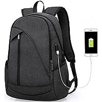 Laptop Notebook Rucksack USB Ladeanschluss: 35L gefütterte Tasche für Laptop bis zu 15.6 Zoll - Wasserdichte Schultasche, Arbeitstasche für Computer Bei Arbeit, Schule, Uni & Reisen …