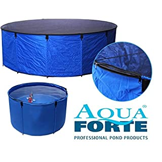 Aquaforte Folding Flexi Bowl Diameter 90 x 60 cm (H) Blue with Protective Mesh and practical bag