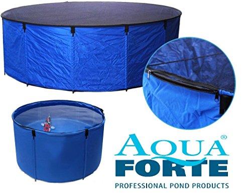 Aquaforte Flexibles Faltbecken Koi bowl, inkl. Abdecknetz und praktischer Tragetasche, Ø 120 x H 60 cm (± 680 L)
