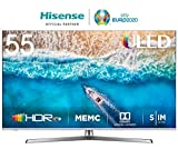 Hisense H55U7B 138 cm (55 Zoll) Fernseher (4K Ultra HD, HDR, Dolby Vision, Triple Tuner, Smart-TV, USB-Aufnahmefunktion)