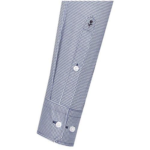 Michaelax-Fashion-Trade Camicia Classiche - A Quadri - Classico - Maniche Lunghe - Uomo Mittelblau 17