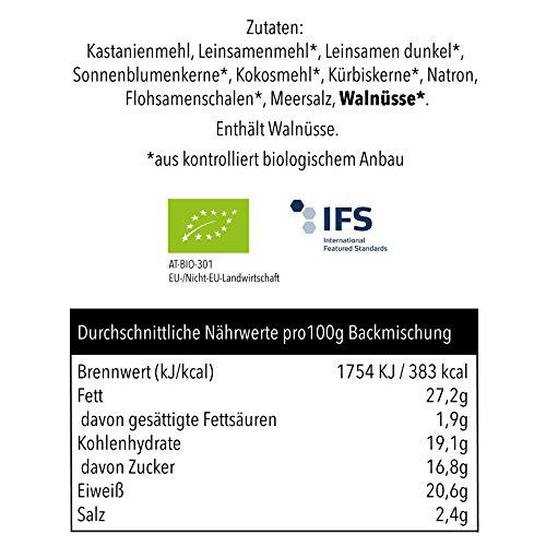 PALEO Brot-Backmischung Kastanie: BIO | 20% Eiweiss | Getreidefrei, Glutenfrei, Hefefrei | Vegan & Paleo | ohne zugesetzten Zucker | Hergestellt in Deutschland | Paleo To Go | Ergibt 4 Brote (1.8 kg) - 5