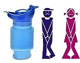 tobe-u Notfall-Urinal, wiederverwendbar, Urinal, tragbar, zusammenfaltbar, Mobiles WC, Flasche für Kinder / Erwachsene, für Camping / Auto-Reise (750ml)