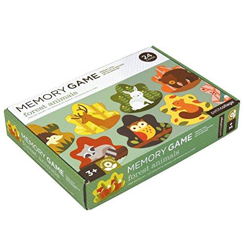 Tier Matching-spiel (Memory-Spiel mit Tieren des Waldes)
