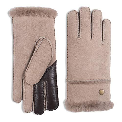138d3340256b50 YISEVEN Damen Shearling Lederhandschuhe mit Warm Gefüttert Winter Lammfell  Leder Autofahrer Handschuhe, Taupe - (