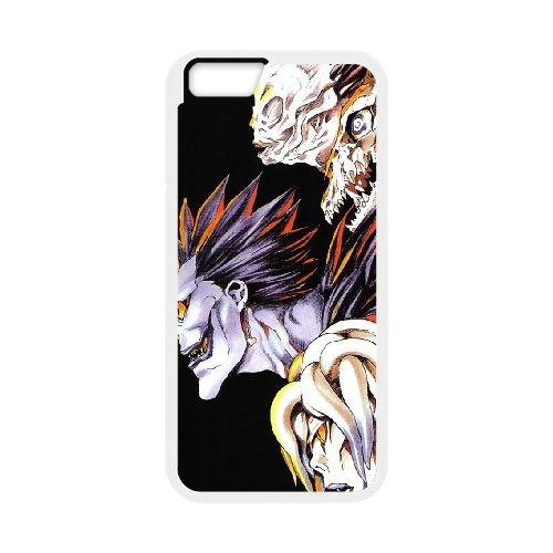 Death Note coque iPhone 6 Plus 5.5 Inch Housse Blanc téléphone portable couverture de cas coque EBDXJKNBO11421