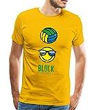 Spreadshirt Smiley World Block Beach Volleyball Männer Premium T-Shirt, XL, Sonnengelb