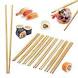 relaxdays Bacchette per Sushi, bambù