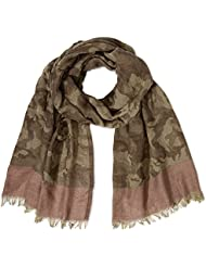 TOM TAILOR Damen Tuch camoflage scarf/408