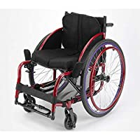 Shisky Folding wheelchair,Leisure sports wheelchair Lightweight folding portable ultra light disabled Sports mini aluminum alloy trolley