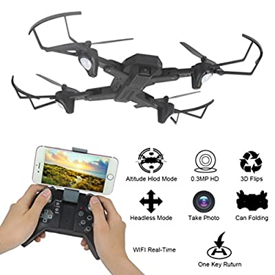 Alberar 2.4G 4-Channel 6Axis Altitude Hold HD Camera RC Quadcopter Drone Selfie Foldable