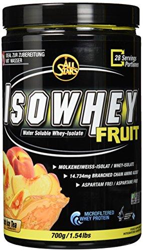 All Stars Isowhey Fruit Whey-Isolat, Peach Ice Tea, 700 g