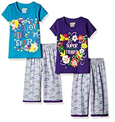 SINIMINI GIRLS PRETTY COLORFUL CAPRI SET ( PACK OF 2 )