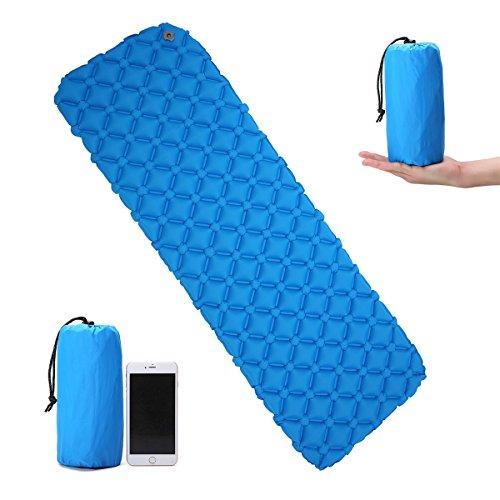 Luftmatratze,CAMTOA Camping matratze Aufblasbare Matratze Tragbare Ultraleichte Aufblasbare Isomatte Air Matratze, Camping Isomatte Sleeping Pad Ideal für Camping, Reise, Outdoor, Wandern Blau