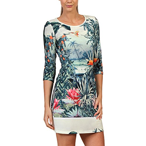 Robe robe 3850.09 superstition tROPICAL Vert - Vert