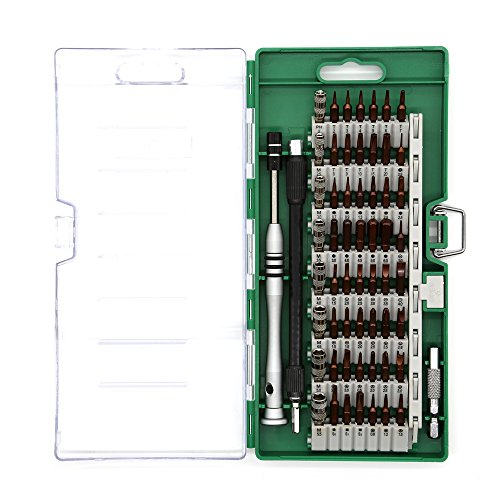 2 Artikel Kit (Kaisi Präzisions-Schraubendreher-Set, 60 in 1 Magnet-Treiber-Kit mit 56 Mini-Multi-Bit-Sets, professionelle Repair Tool Kit für iPhone / iPad / MacBook / PC / Laptop / Xbox / Uhren & Brillen)