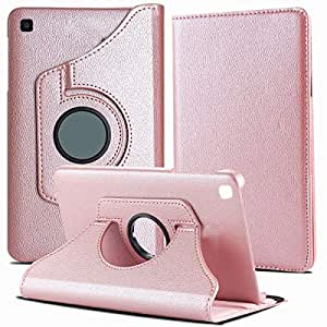 TGK 360 Degree Rotating Leather Auto Sleep Wake Function Smart Case Cover for Samsung Tab A 10.1 Inch SM-T510/SM-T515 2019 Release (Rose Gold)