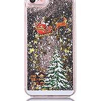c7b4df9776f5 Luxe Paillettes Quicksand Arbre de Noël Brillant Liquide Coque de  Protection pour iPhone X XS Max