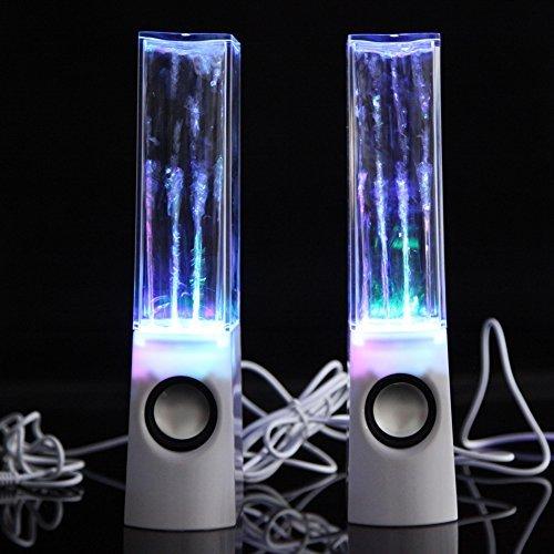 Chinatera, Lautsprecher für Handy, Computer, Laptop, mit LEDs und Wasserspieleffekt