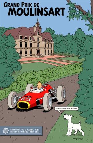 1965 Moulinsart Grand Prix Tintin A3 Poster Reprint