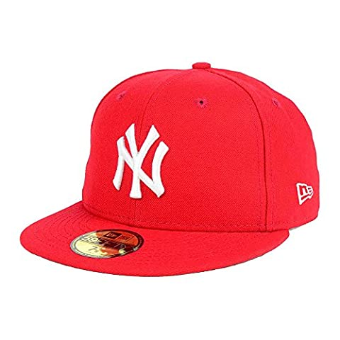 New York Yankees Red MLB New Era 59FIFTY [5950] Fitted Cap Size 7 3/8