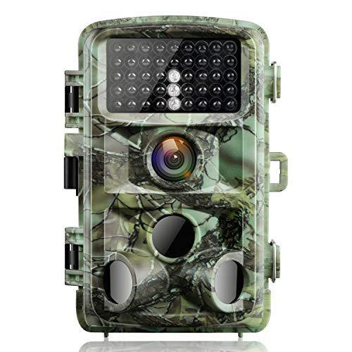 """Campark Fotocamera da Caccia 14MP 1080P Fototrappola Infrarossi Movimento Attivato 0.3S Scouting Camera con Visione Notturna 2,4"""" LCD della Gamma 120°Detecting IR LED IP56 Impermeabile"""